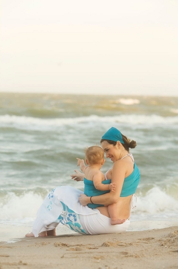 Beachfront Baby Water And Hot Weather Ring Sling Baby