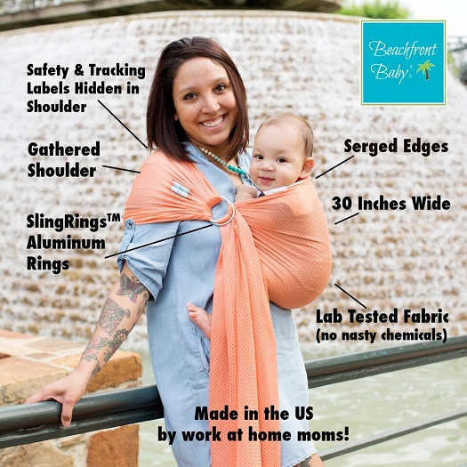 c898d55273a Beachfront Baby - Water and Hot Weather Ring Sling Baby Carrier