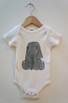 Carved Life Organic Cotton Onesie - Elephant
