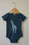 Carved Life Organic Cotton Onesie - Blue Giraffe