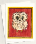 Carved Life Owl Card