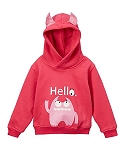 Doodle Pants Pink Monster Hoodie With Horns
