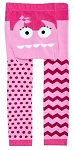 Doodle Pants Pink Monster Cotton Leggings