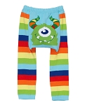 Doodle Pants Rainbow Monster Cotton Leggings