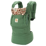ERGObaby Organic Baby Carrier - Green w/ River Rock Lining