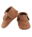 First Steps Eco-Leather Vegan Moccasins - Brown