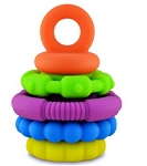 Jellystone Rainbow Stacker - Silicone Teether & Toy