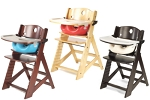 Keekaroo Height Right Wooden High Chair with Infant Insert Bundle