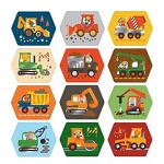 Petit Collage Construction Memory Game