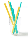 Silikids Siliskin Silicone Drinking Straws - Pack of 6, Various Sizes