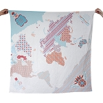 Weegoamigo Digital Printed Baby Muslin Blanket - World Map