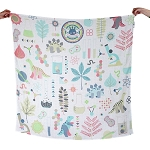 Weegoamigo Digital Printed Baby Muslin Blanket - Science