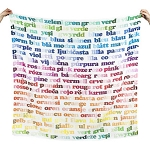 Weegoamigo Digital Printed Baby Muslin Blanket - Colors