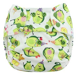 Blueberry One-Size Pocket Diaper w/Organic Cotton Inserts