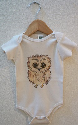 Carved Life Organic Cotton Onesie - Owl