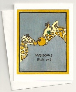 Carved Life Welcome Little One Card