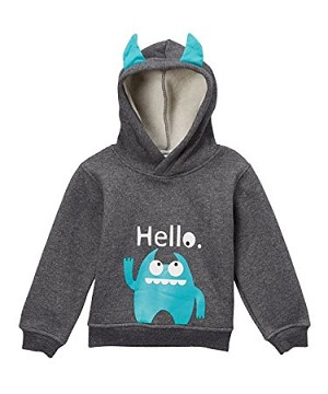 Doodle Pants Blue Monster Hoodie With Horns