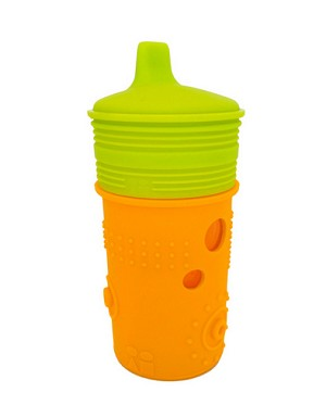 Silikids Siliskin Glass Training Cup with Sippy Top