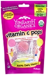 YumEarth Organic Vitamin C Pops - Strawberry, Cherry, and Raspberry Assortment