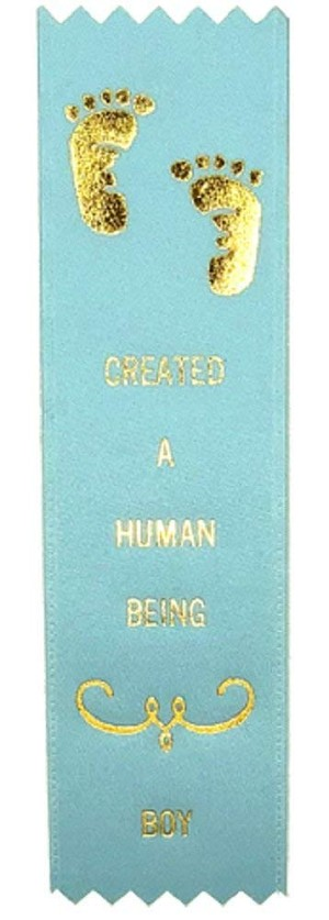 Adulting FTW - Created A Human Being Boy Award Ribbon