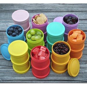 Re-Play Snack Stack w/Travel Lid