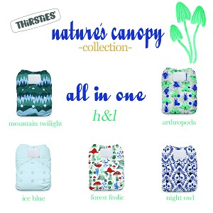 Thirsties Natural All In One Diaper - One Size Aplix Closure (Hook & Loop)